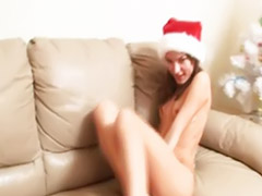 Xmas, Teen girl fingered, Teen fingering solo, Santas, Solo teen fingers, Solo teen finger