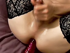 Gay time, Alone time, Alone masturbate, Solo anal wank