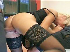 Milf secretary, Secretary milf, Double fun, Secretary double, Secretary blonde, Blond secretary