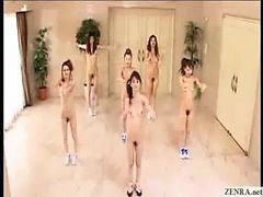 Nudist, Aerobic, With 2 japanese girl, Japanese nudist, Nudisté, Nudist girls
