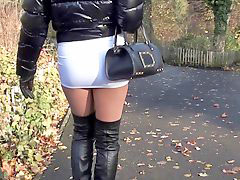 Skirt, Mini, Sexy skirts, Public boots, Sexy skirt, Boots public