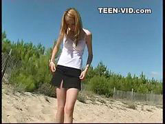 Teen, Teens, Beach, Nudist