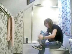 Sister hidden, Sister hidden cam, Sister cam, Sister bathroom, My cam, Hidden cam in bathroom