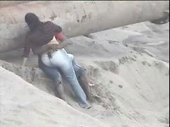 Caught, Beach, Couple, Latino