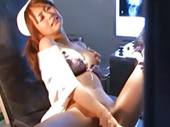Akina, Hairy spreading, Spreading solo, Solo spread, Solo nurse, Nurse toying