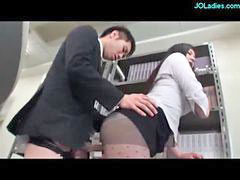 Ass to mouth, Rubbing with cum, Rubbing ass, Office lady, Blowjob cum in mouth, Cum in the mouth