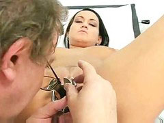 Gyno, Gaping pussy, Kinky gyno, Pussy gape, Old doctor, Doctors