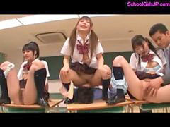 Classroom, Give schoolgirl, Schoolgirl finger, Lick schoolgirl, Fingering and licking, Guy fingers